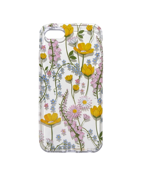 7/8 CLEAR FLORAL PHONE CASE