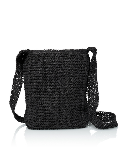 STRAW HOBO BAG