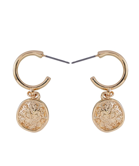 ECO - GOLD ANCIENT COIN EARRING
