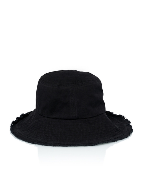 FREYA DENIM BUCKET HAT - BLACK