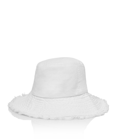 FREYA DENIM BUCKET HAT - WHITE