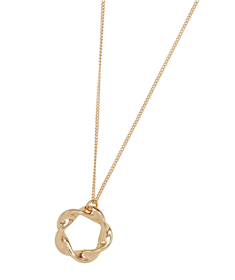 ECO - GOLD MOULDED PENDANT NECKLACE