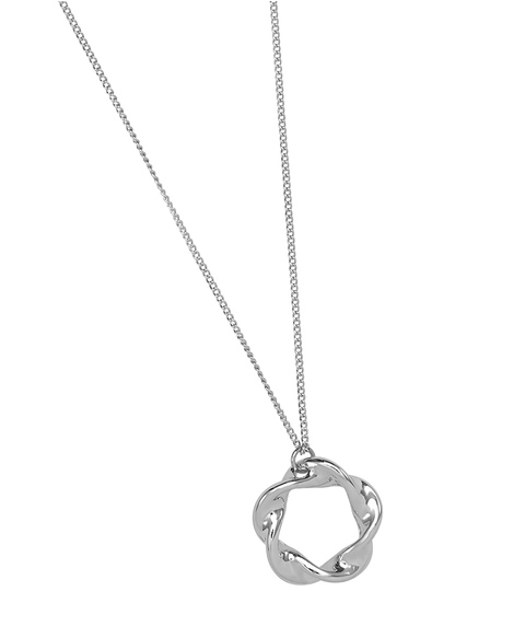 ECO - SILVER MOULDED PENDANT NECKLACE