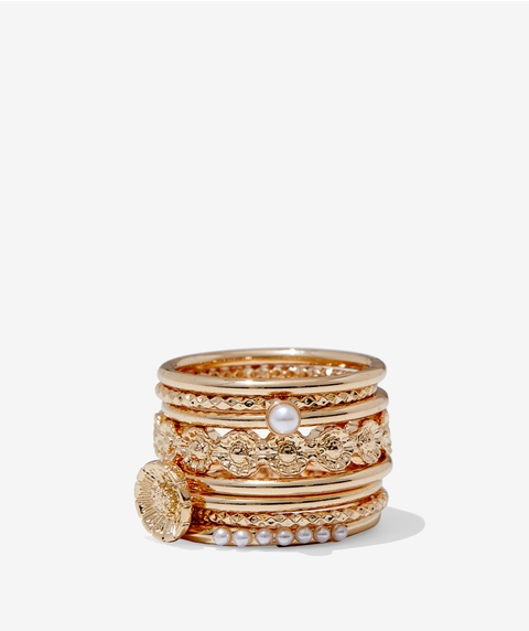 ECO - GOLD CHLOE RING PACK