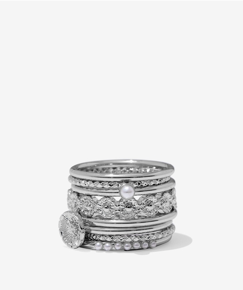 ECO - SILVER CHLOE RING PACK