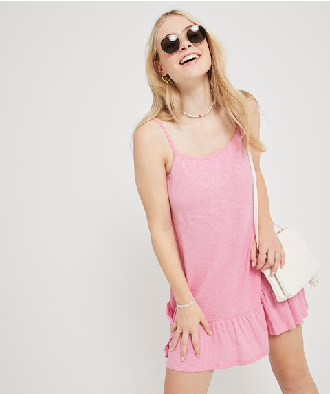 BEACH RUFFLE MINI DRESS