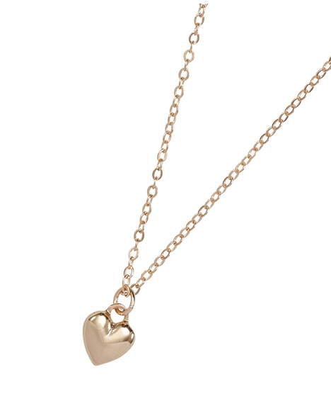 GOLD MINI HEART SHORT NECKLACE