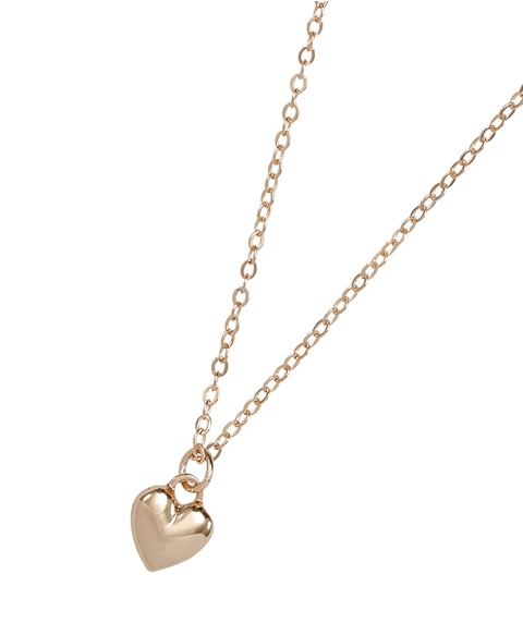 GOLD MINI HEART SHORT NECKLACE
