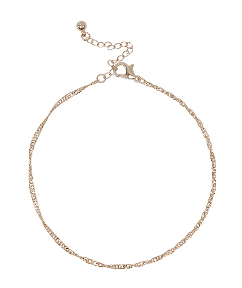 GOLD TWIST CHAIN ANKLET