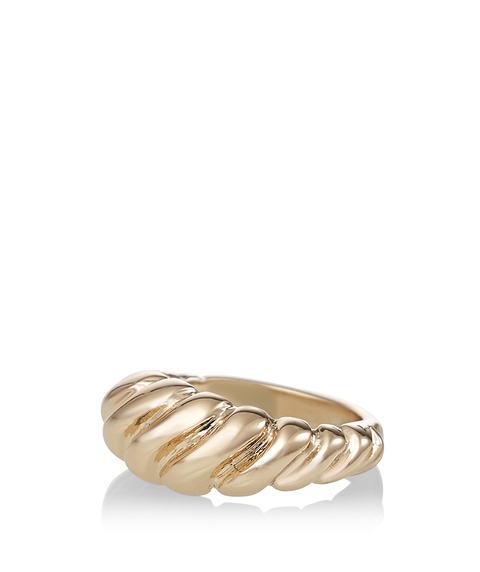 GOLD CHUNKY TWISTED RING