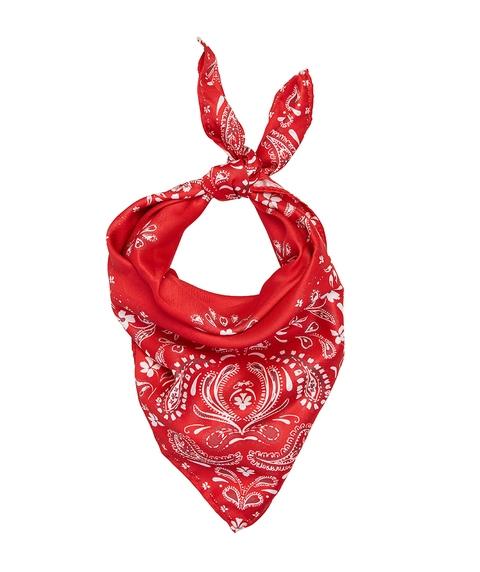 BANDANA SCARF - RED PAISLEY
