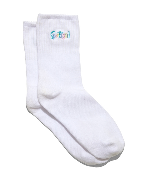 SPORTSGIRL RIBBED CREW SOCK