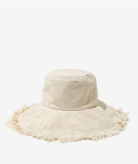 PIA OVERSIZED BUCKET HAT - ECRU