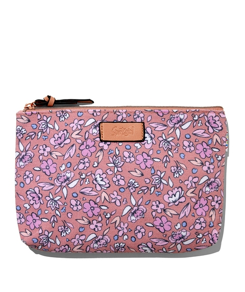 EMILY PINK FLORAL BEAUTY BAG