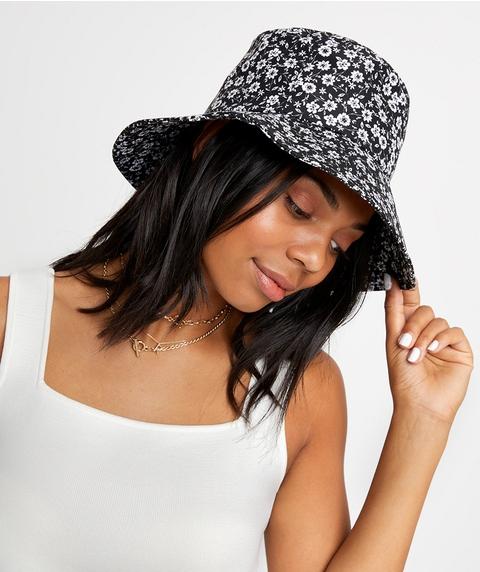 MONO FLORAL BUCKET HAT