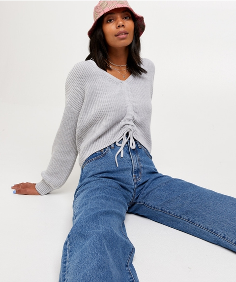 RUCHED FRONT JUMPER