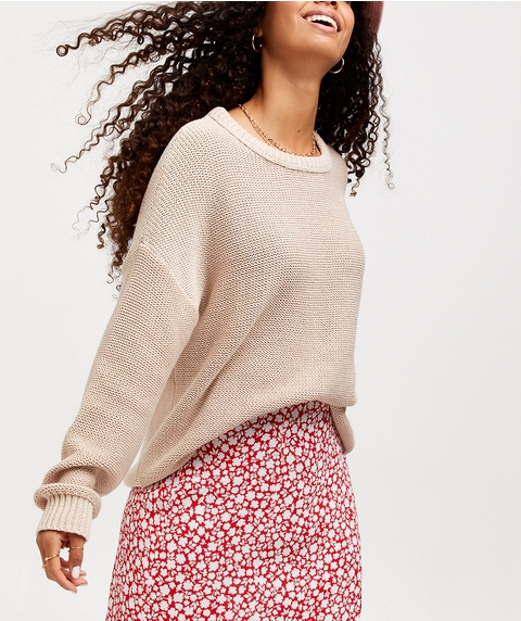 SLOUCHY CROP JUMPER