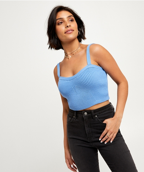 KNIT CROP TOP