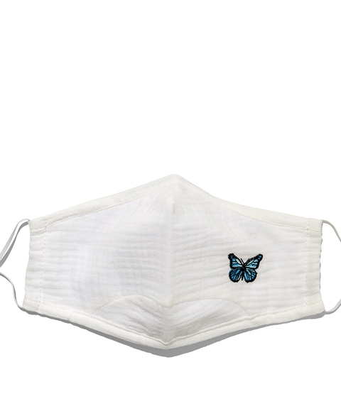 FASHION FACE MASK - WHITE BUTTERFLY