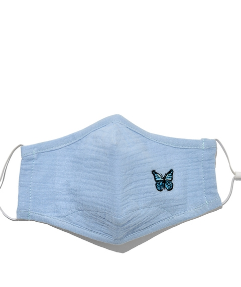 FASHION FACE MASK - BLUE BUTTERFLY