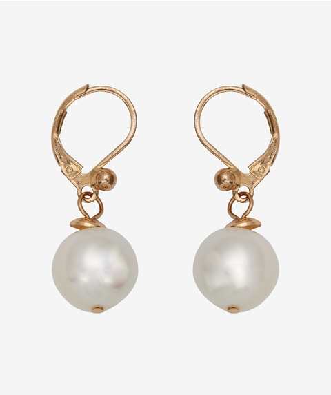 24K GOLD PLATED FRESH WATER PEARL DROP EARRINGS