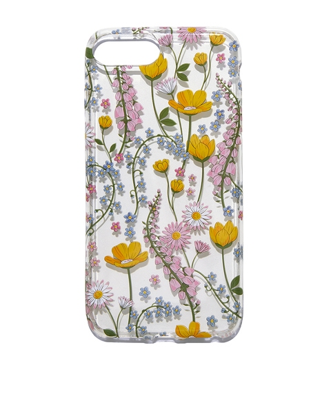 7+/8+ CLEAR FLORAL PHONE CASE