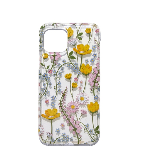 XS/11P CLEAR FLORAL PHONE CASE