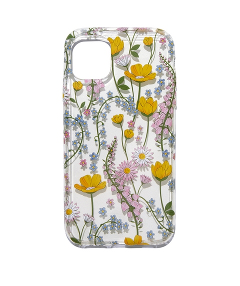 XR/11 CLEAR FLORAL PHONE CASE