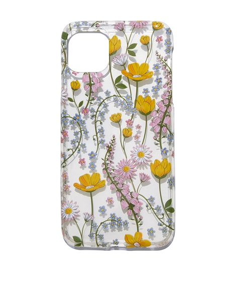 XSM/11PM CLEAR FLORAL PHONE CASE