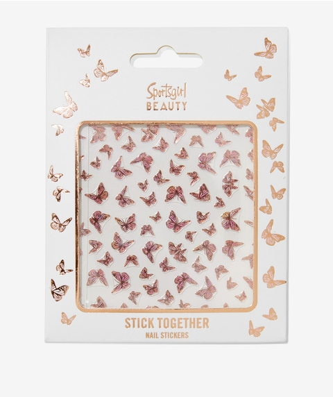 STICK TOGETHER NAIL STICKERS - BLUSH BUTTERFLY