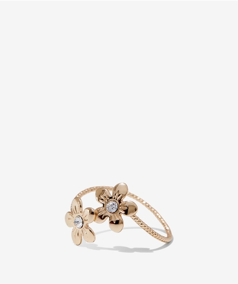 GOLD DOUBLE DAISY RING