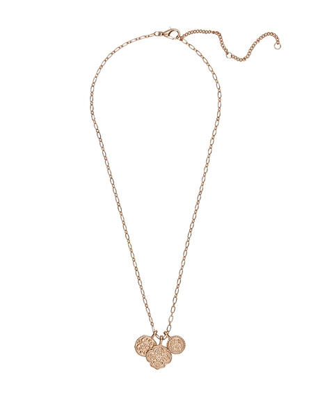 GOLD TRIPLE COIN NECKLACE