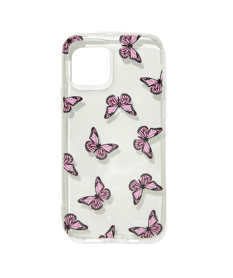 12 PINK BUTTERFLY PHONE CASE