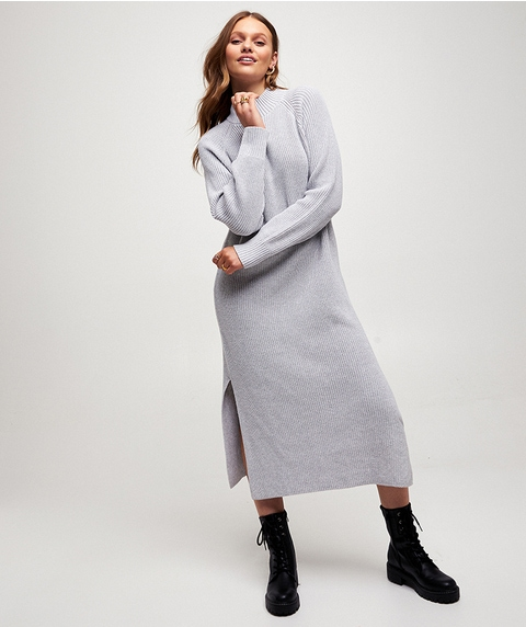 LONGLINE SWEATER DRESS