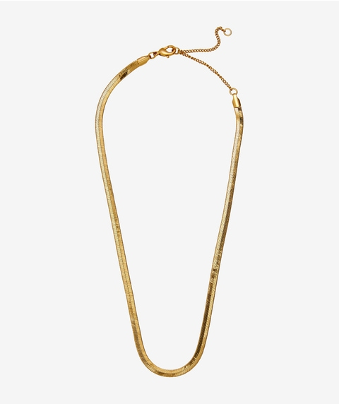 24K GOLD PLATED SNAKE CHAIN NECKLACE