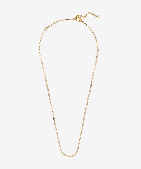 24K GOLD PLATED LINKED CHAIN NECKLACE