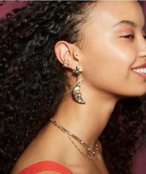 MOON STATEMENT EARRING