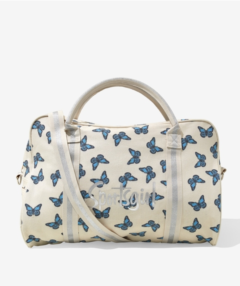 BUTTERFLY PRINT DUFFLE BAG
