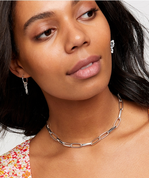 SILVER CLASSIC CHUNKY CHAIN NECKLACE