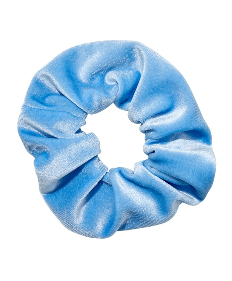 BABY BLUE VELVET SCRUNCHIE