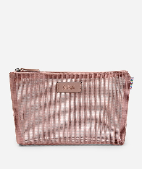 EMILY BEAUTY BAG - CHOCOLATE OMBRE