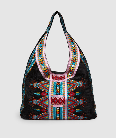 MIA EMBROIDERED HOBO