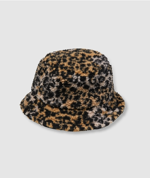 LEOPARD TEDDY BUCKET HAT