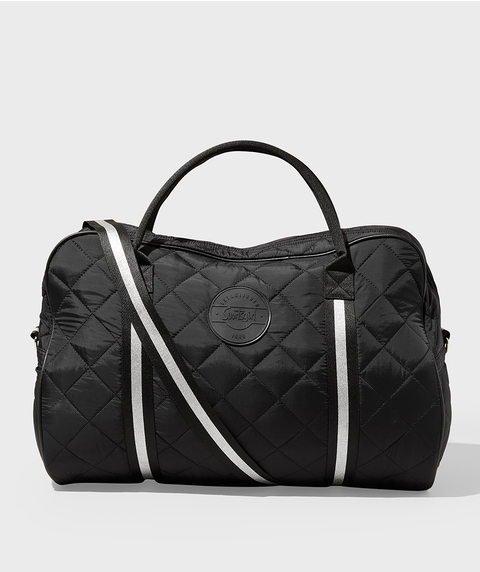QUILTED NYLON DUFFLE BAG