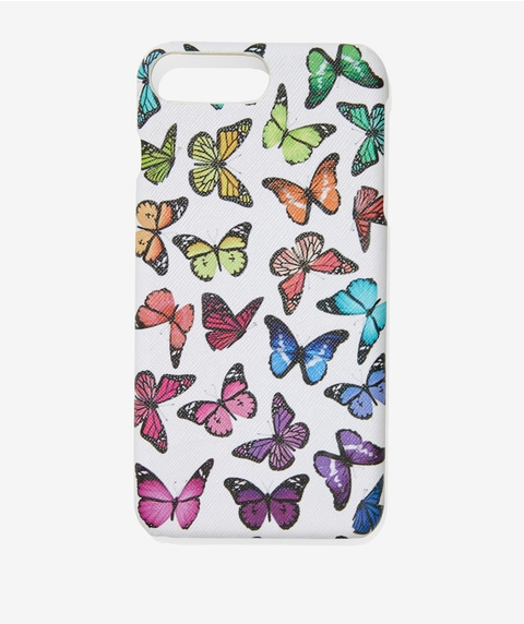 7+/8+ COLOURFUL BUTTERFLY PHONE CASE