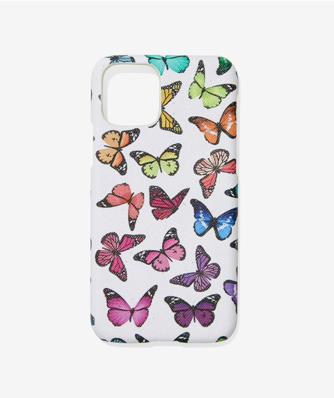XS/11P COLOURFUL BUTTERFLY PHONE CASE
