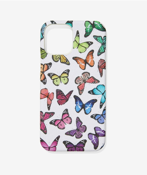 IPHONE 12 COLOURFUL BUTTERFLY PHONE CASE
