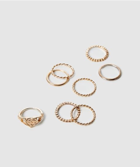 GOLD HEART RING PACK