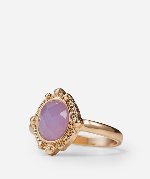 GOLD & LILAC STONE RING
