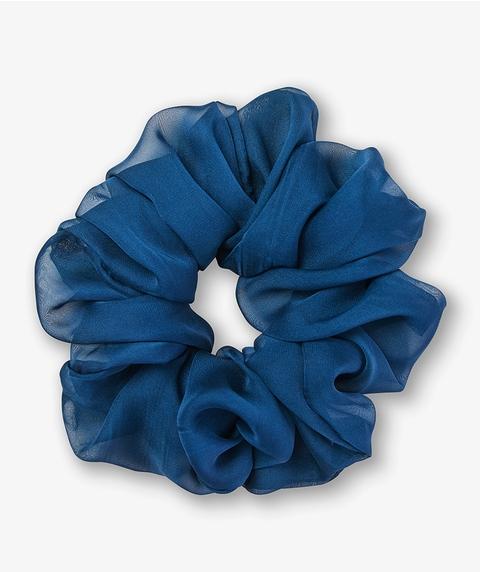 MIDNIGHT BLUE ORGANZA SCRUNCHIE